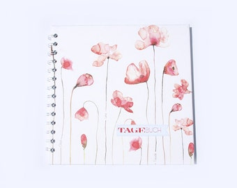 Diary, poppy blossom