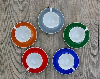 Set of Five Fairwood Schonwald Espresso Cups and Saucers / German Porcelain Espresso Cups & Saucers / Five German Demitasse Cups and Saucers