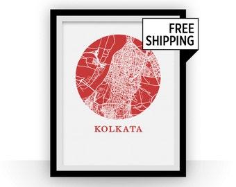 Kolkata Map Print - City Map Poster