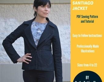 Santiago Jacket:  PDF Sewing Pattern and Tutorial