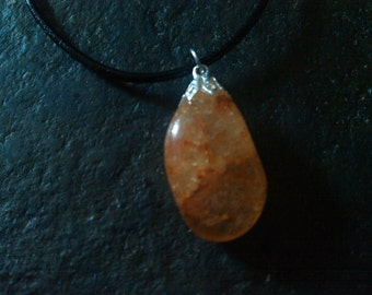 Beautiful gemstone quartz necklace.