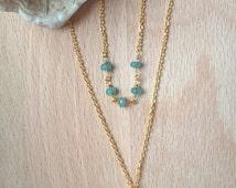 Necklace double tassel