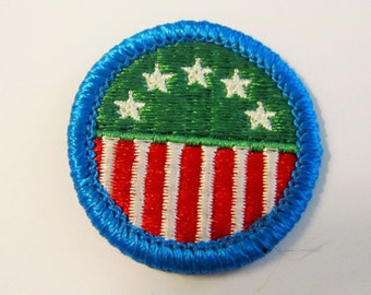 "Vintage Girl Scout Junior Badge ""Girl Scouting in the USA"" circa 1980's"