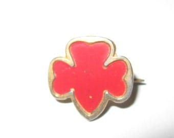 Rare Vintage Girl Scout World War Two Service Bureau Pin circa 1941-45