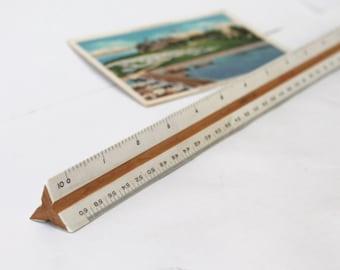 Charrette 503 Drafting Ruler, Architect Vintage 3-Sided Tool