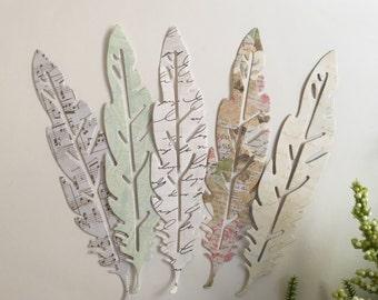 Die Cut Feathers