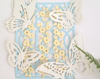 Anna Griffin Die Cut Butterfly and Trellis Set