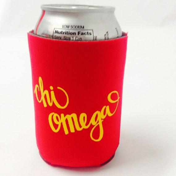 Chi Omega Printed Drink Huggie