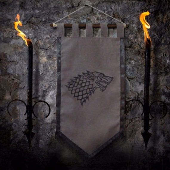 Game Of Thrones Flag Curtain House Stark Home Decor Winter Is