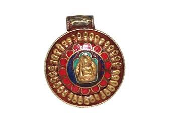 Nepal pendant Buddha pendant Tibetan pendant Tibet pendant Nepalese pendant Boho pendant bohemian pendant gypsy pendant tribal pendant PD454