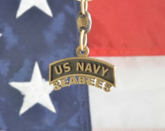 US Navy SEABEES Key Chain