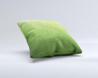 The Grungy Green Surface Pillow  ink-Fuzed Decorative Throw Pillow