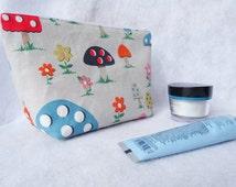Mushroom makeup bag, Cath Kidston mushroom makeup bag, mushroom makeup pouch, mushroom cosmetics bag, woodland makeup bag, mother's day gift