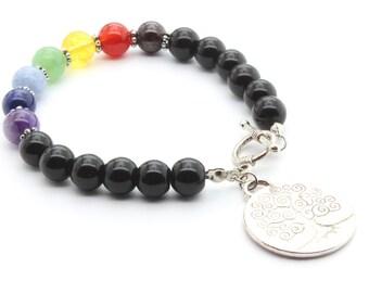 Black Stone Chakra Bracelet