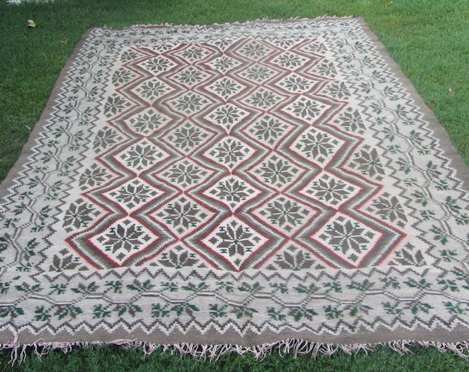 Bessarabian Kilim. Vintage Kilim, Handmade, old, handmade. Ukrainian, Romanian, Bessarabian carpet
