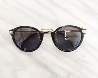 the herbert / round black clubmaster sunglasses