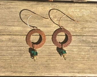 Emerald Brass Olivia Earring