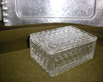 Fostoria American Glass Covered Box
