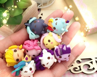 Mlp Jewelry - Kawaii Polymer Clay Charms - Mochi Necklace Charms - Made to order