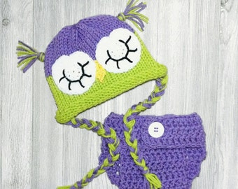 Newborn Crochet Owl Outfit Baby Girl Owl Outfit