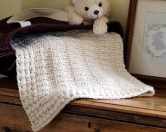 Blanket Pattern New Baby Afghan Boy Blanket Pattern Baby Girl Blanket DIY Shower Crochet Pattern by Hidden Meadow Crochet- Ivory Dawn P126