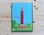 Christmas Card - 5x7 - Carillon Tower - Richmond, VA