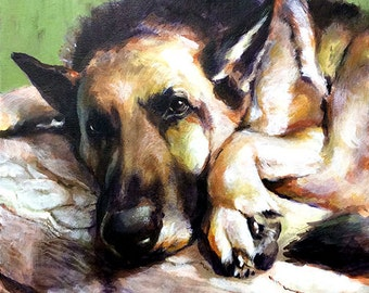 Traditional Painting - Custom Pet Portrait Memorial Art