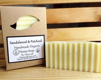 Patchouli Sandalwood Soap - Handmade Bar Soap - Organic Bar Soaps - Organic Hemp Soap - Patchouli Sandalwood Hemp Soap - Natural Hemp Soap