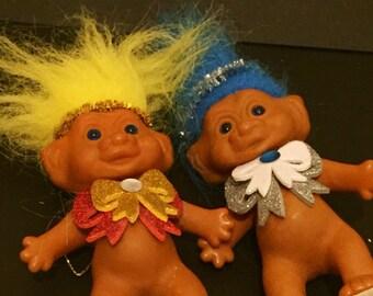 Vintage Kitsch Christmas Tree Lucky Trolls