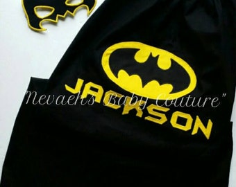 Batman Cape/ Cosplay Cape/ Super Hero Cape/ DC Comics/ Halloween Costume/ Boys Cape/ Birthday Cape