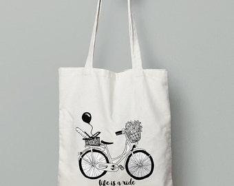 Life is a ride, Enjoy it - Bike Tote Bag (Limited Edition)