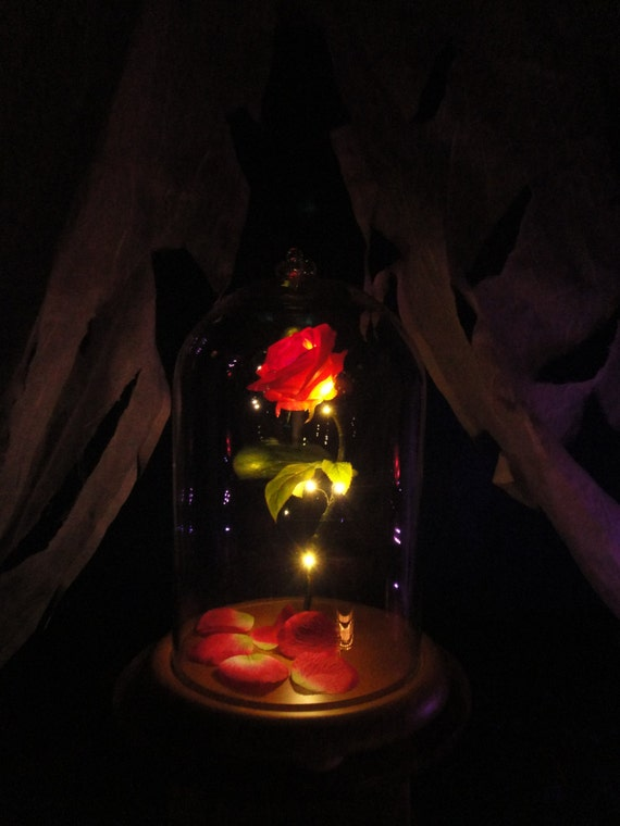 Beauty And The Beast Enchanted Rose Disney Fairy Tale Inspired