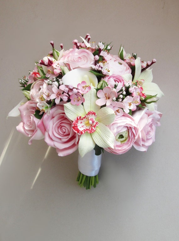 Cherry blossom bouquet sakura bouquet bridal bouquet