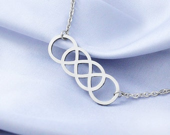 Double Infinity Necklace Stainless Steel, Best Friend Necklace, Infinity Necklace, Infinite Jewelry, Infinity