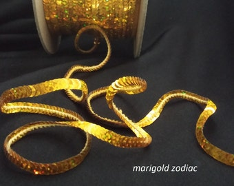 marigold zodiac (hologram) sequin trim--non-stretch and stretch
