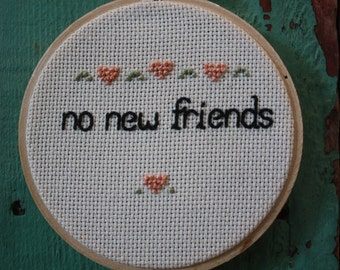 "Drake Inspired ""no new friends"" embroidery"