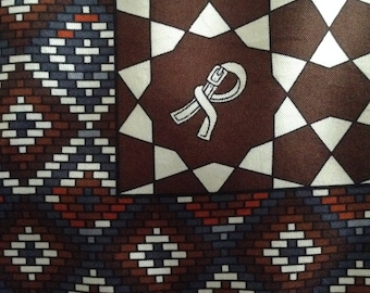 "ROBERTA di CAMERINO Vintage Silk Scarf 34"" Square Chocolate Brown"