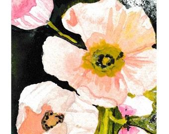 Spring flowers - Watercolor Print