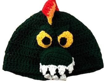 Carnivorous Dinosaur Hand Crocheted Hat