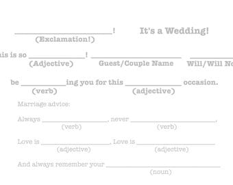 "Mad-Lib R.S.V.P ""It's a wedding!"" Template - Grey"