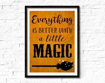 Seasonal Wall Art - Halloween - A Little Magic - 8x10 Sign - Instant Download
