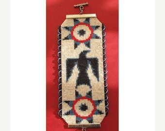 SALE Instant Download Beading Pattern Peyote Stitch Bracelet Raven Star Native Seed Bead Cuff