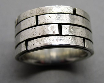Mr ring, ring walls, solid 925 Silver