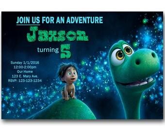 The Good Dinosaur Invitation - Printable - The Good Dinosaur Birthday Invite - DIY Printing.
