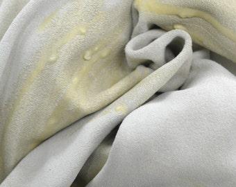 Claw Mark Texture on Tan Leather Calfskin 11.2 Square Foot Hide 2 ounces TA-33509 (Sec. 9,Shelf 3,B)