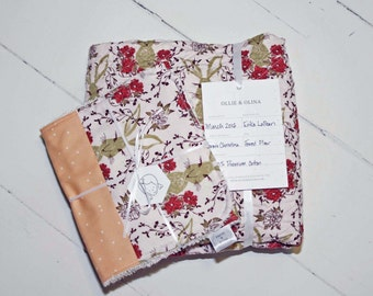 Heirloom Baby Quilt Collection  // Forest Floor In the Thicket Bunny Quilt // Modern Quilt FREE Shipping
