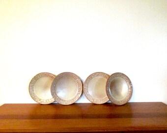 Frankoma Mayan Aztec Set of 4 Salad Plates in Desert Gold