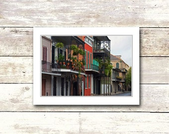 New Orleans art, French Quarter, Rowhouses, Blank Greeting Cards, Architecture, Fine Art Cards, NOLA,creole cottage