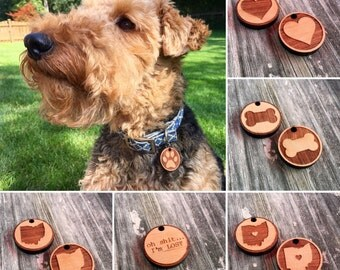 Custom Wood Pet Tag