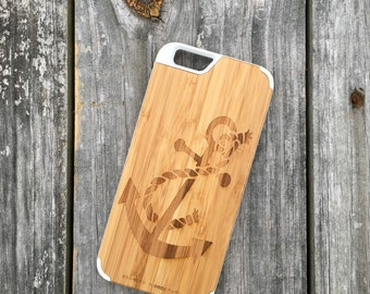 Anchor - Real Bamboo Wood Phone Case
